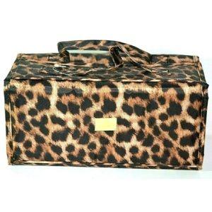 Joy Mangano Better Beauty Bag in Cheeta
